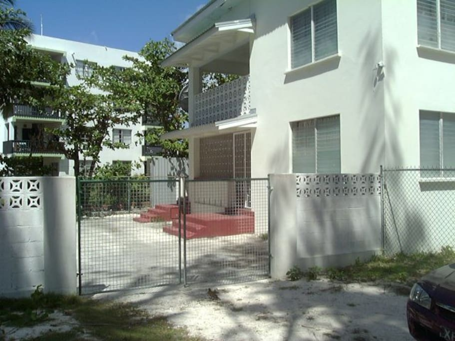 Exterior of apartment-gate to compound