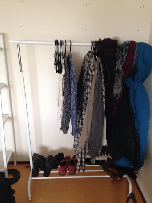Sizeable clothing rack (obviously empty now)