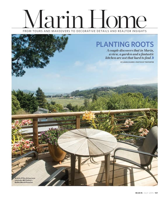 Our home as featured in Marin Magazine, July 2015
