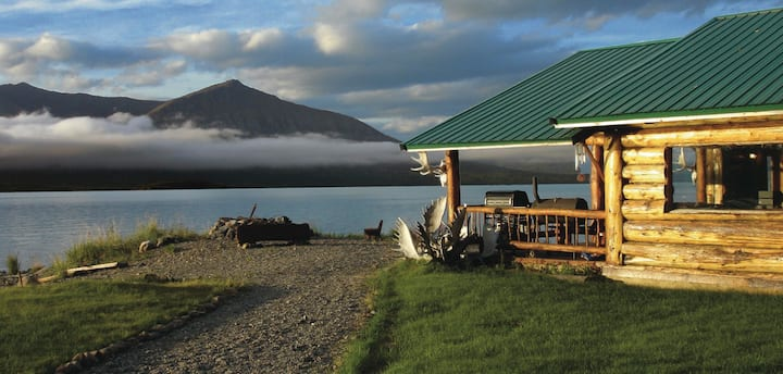 Best Views on Lake Clark!  Chulitna Lodge off-grid