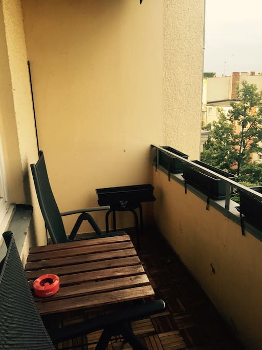 My balcony :) enjoy your cigarette just outside please