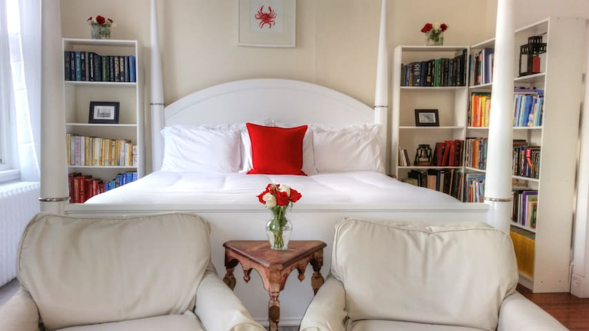 Library-Master Bedroom with Jacuzzi - Philadelphia - Bed & Breakfast