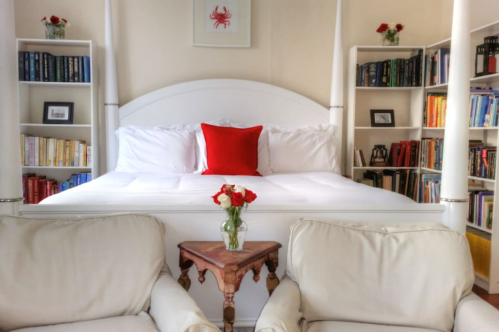 Library Master Bedroom With Jacuzzi Bed And Breakfasts For Rent In Philadelphia Pennsylvania