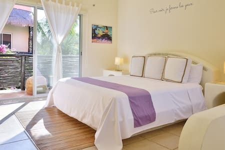 """Our stay at the Gauguin suite was fantastic! It's spacious and has everything you need. The bed is massive! The garden area with the pool is very pleasant. The free bicycles are a great touch as it's super useful in Tulum. We used them all the time. Lastly, all the staff was very kind and helpful and provided us with nice restaurant recommendations"" (2018). Thank you Bruno!"
