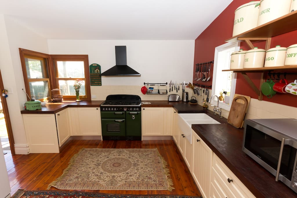 The huge farmhouse kitchen