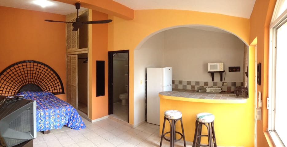 COZY & 1 BLOCK FROM BEACH STUDIO #1 - cozumel - Condominium