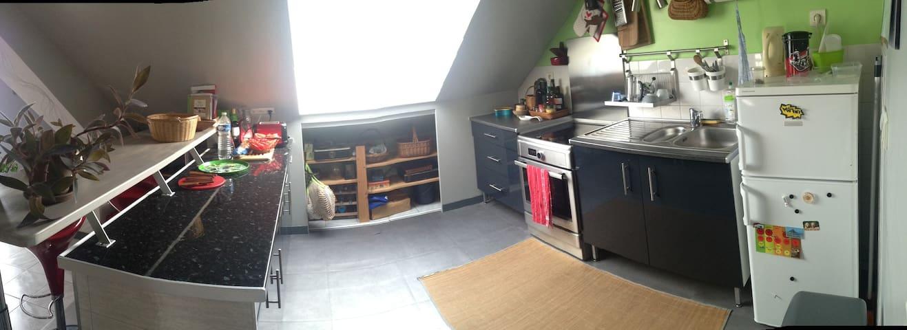 cuisine ouverte et fonctionnelle