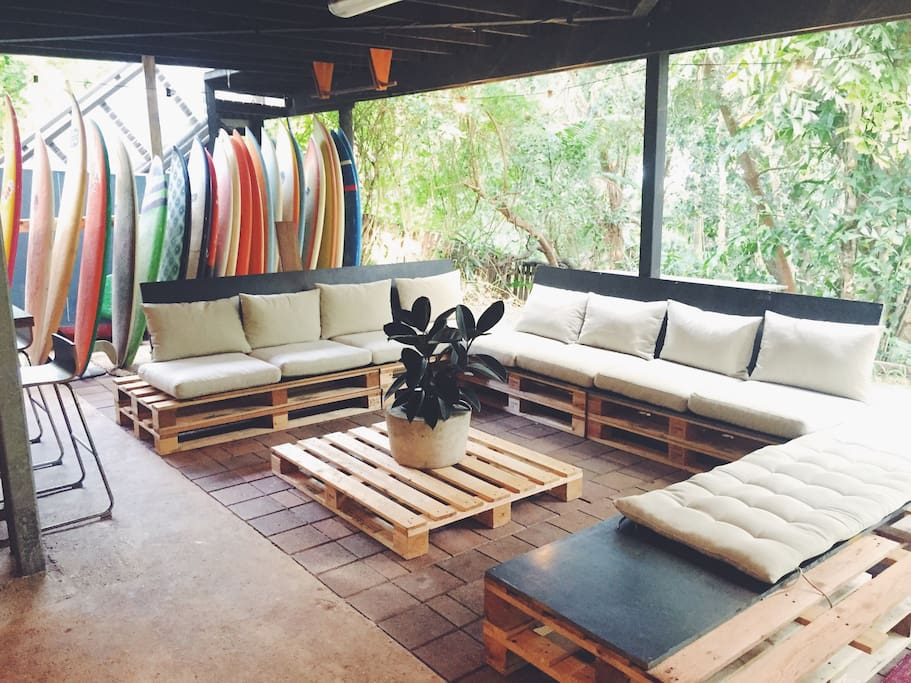 Outdoor living space in the rainforest :)