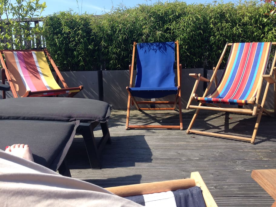 Beach chairs and beach beds