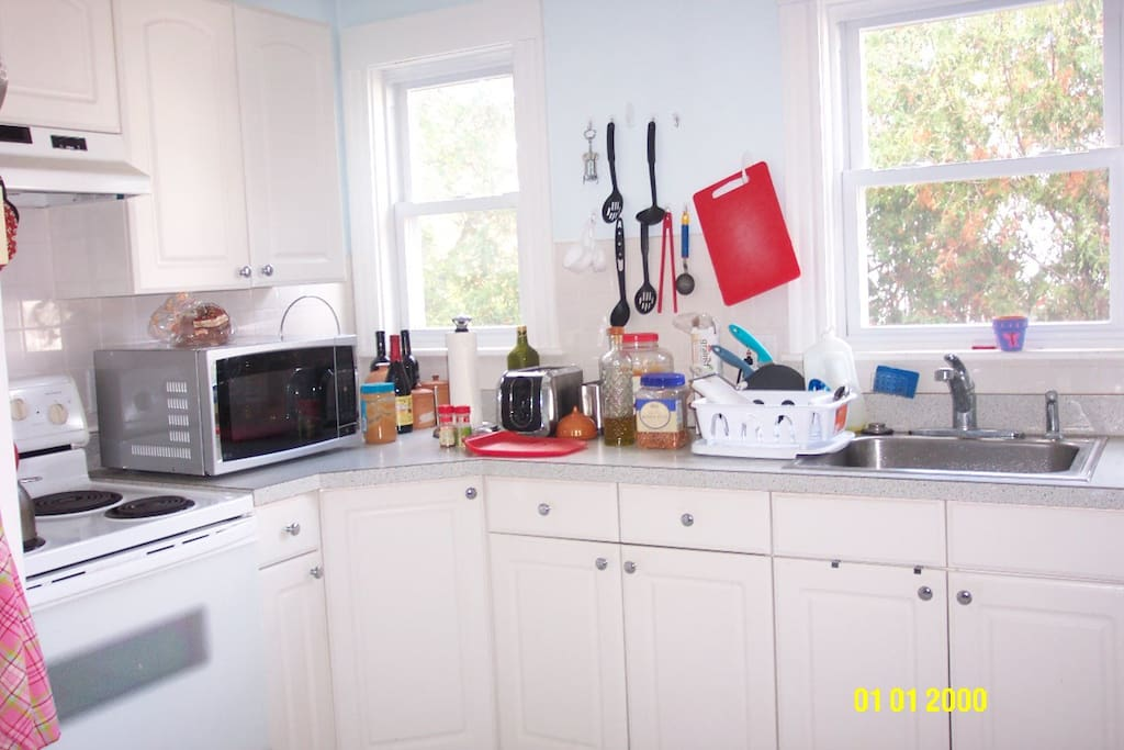 Bright, well-equipped kitchen