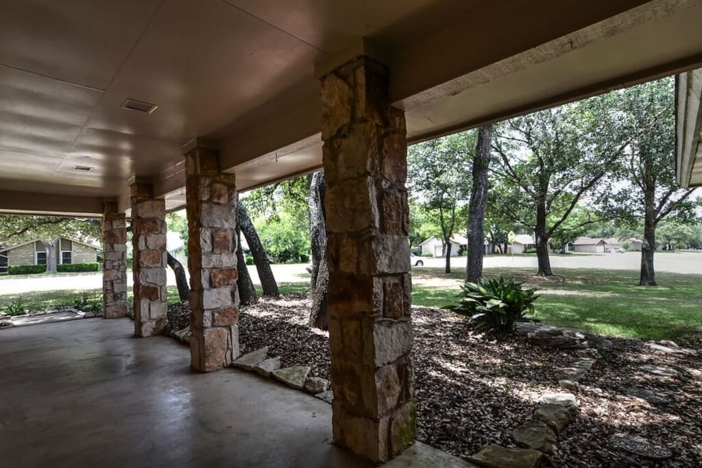 A Texas style breezeway welcomes you