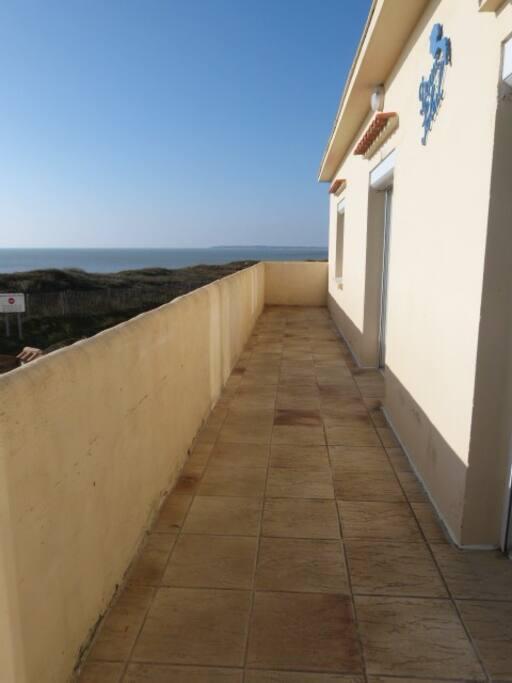 Balcon avec vue mer