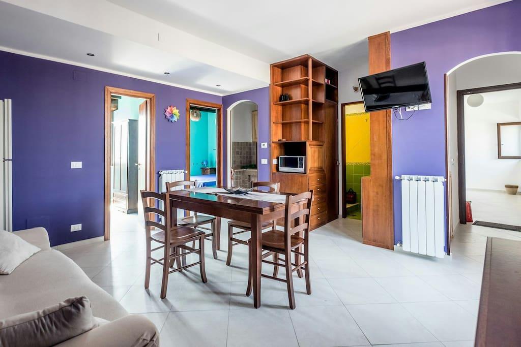 Panoramica del soggiorno