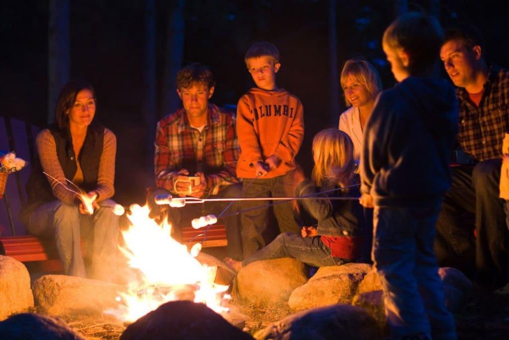 Memories are made around an Okanagan / Shuswap campfire!