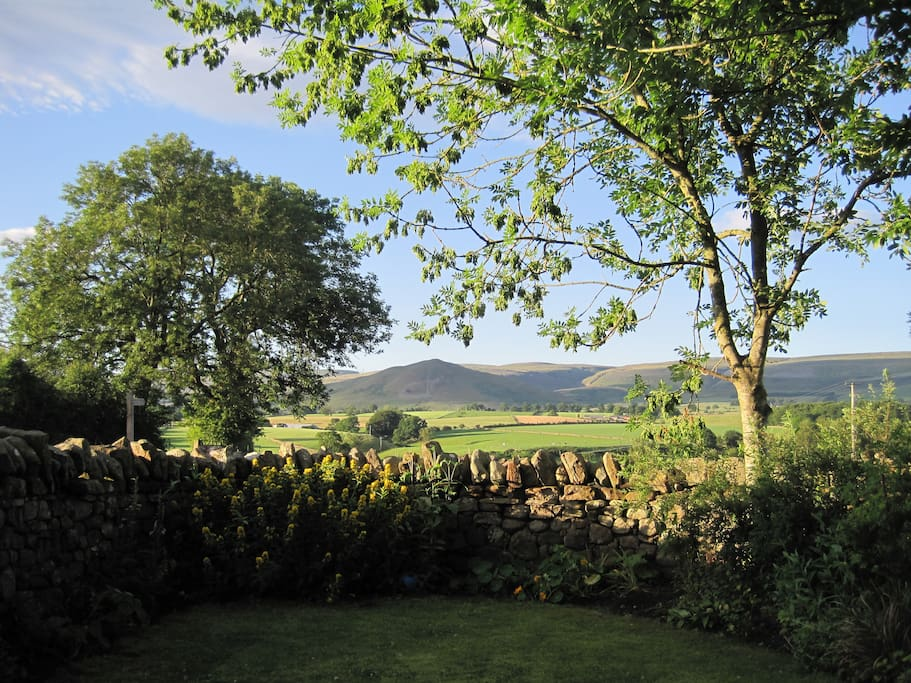 View of the Pennines from garden.