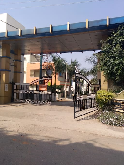 Main Entrance, gated Community with security