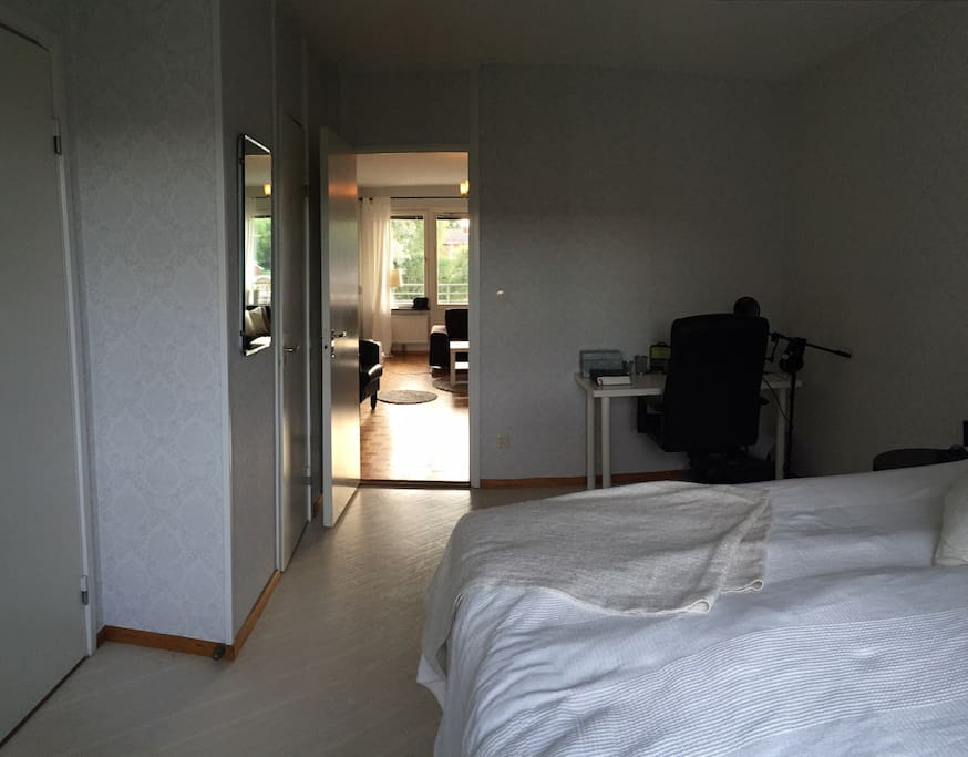 Viev from the bedroom to livingroom
