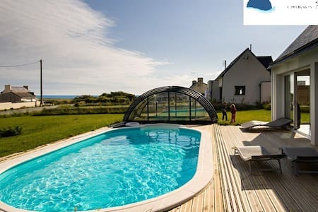 Sea views, indoor heated pool - Plovan - Guesthouse