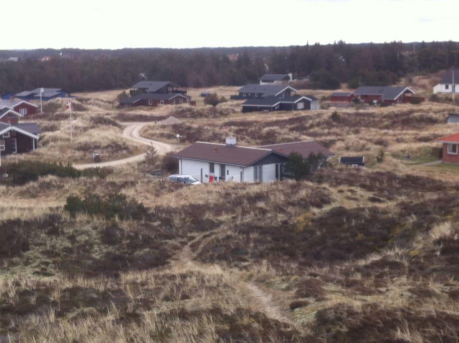 Sommerhuset i klitterne, på kanten af nationalparken