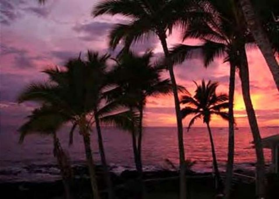 There is nothing like a Hawaiian sunset off this lanai