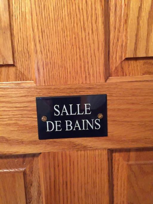 Private En Suite Bathroom door Plaque