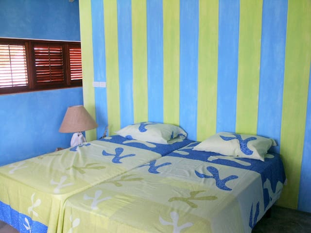 The upstairs guest room