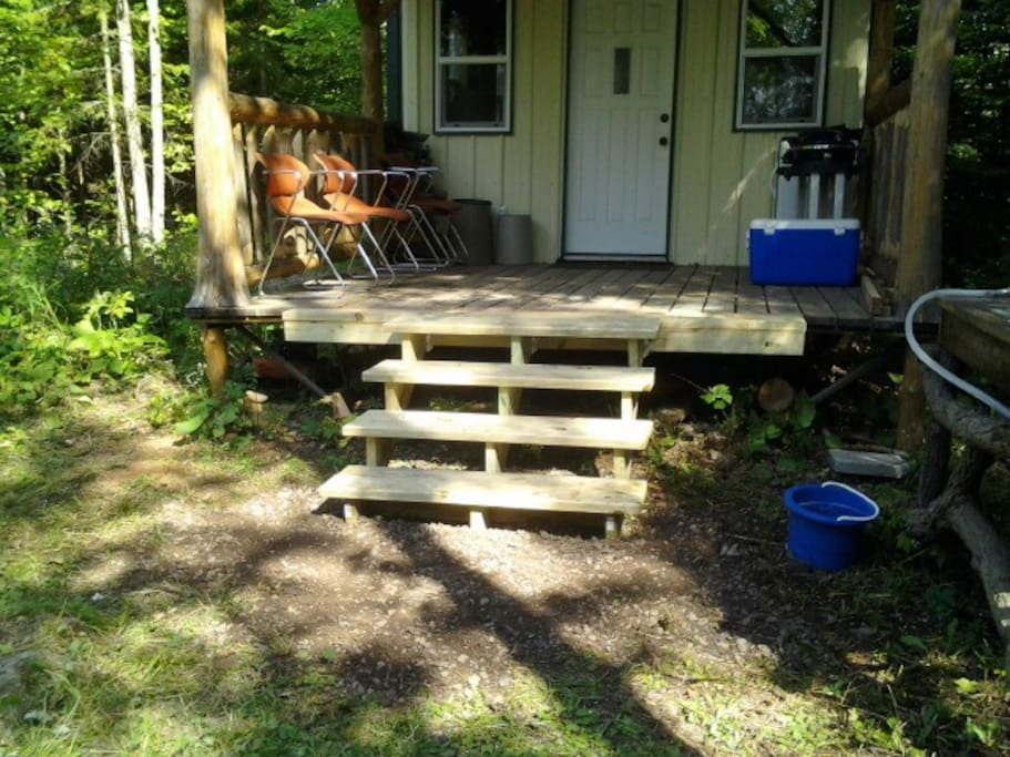 New steps into North Cabin .