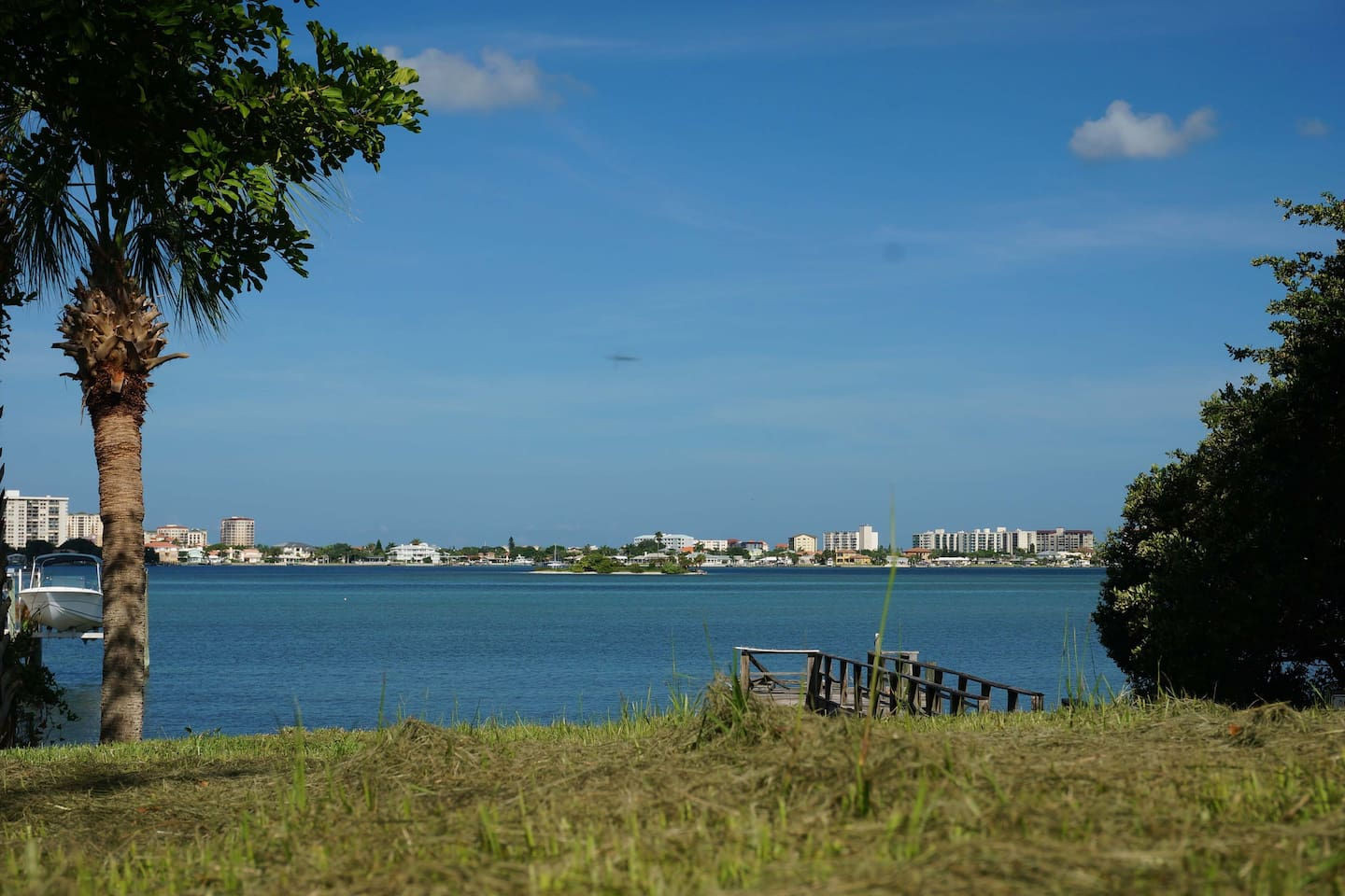Here's our view over to Clearwater Beach from just across the street