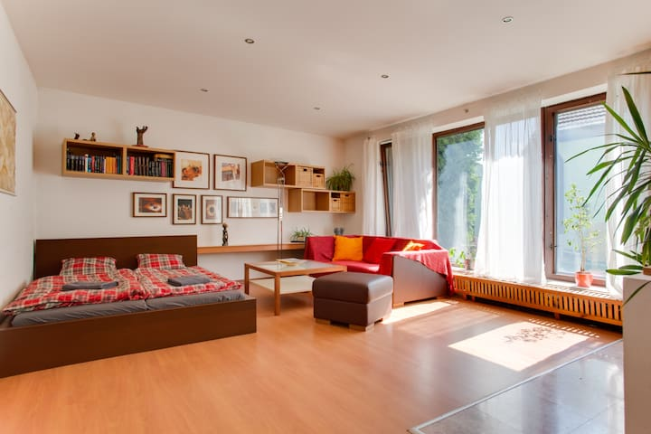 Bright room in Prague house - Prague - Rumah