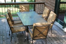 Patio with comfy furniture