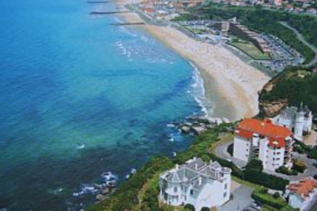 Vue aérienne de la villa