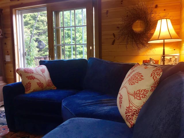 A new sectional was added in late 2015 which allows for beautiful views of the splendor of the surrounding woods.