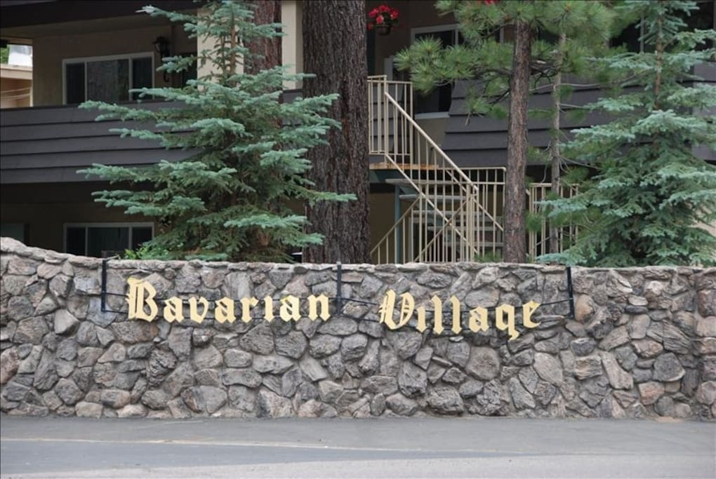 Entrance to Bavarian Village Condo Units