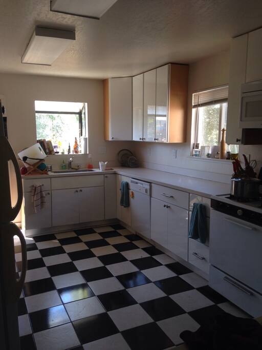 Large communal kitchen!
