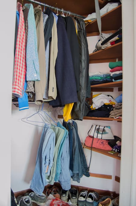A view of the ample closet