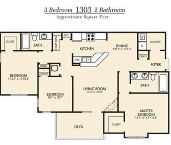 Athens, GA Bedrooms - Athens - Lägenhet
