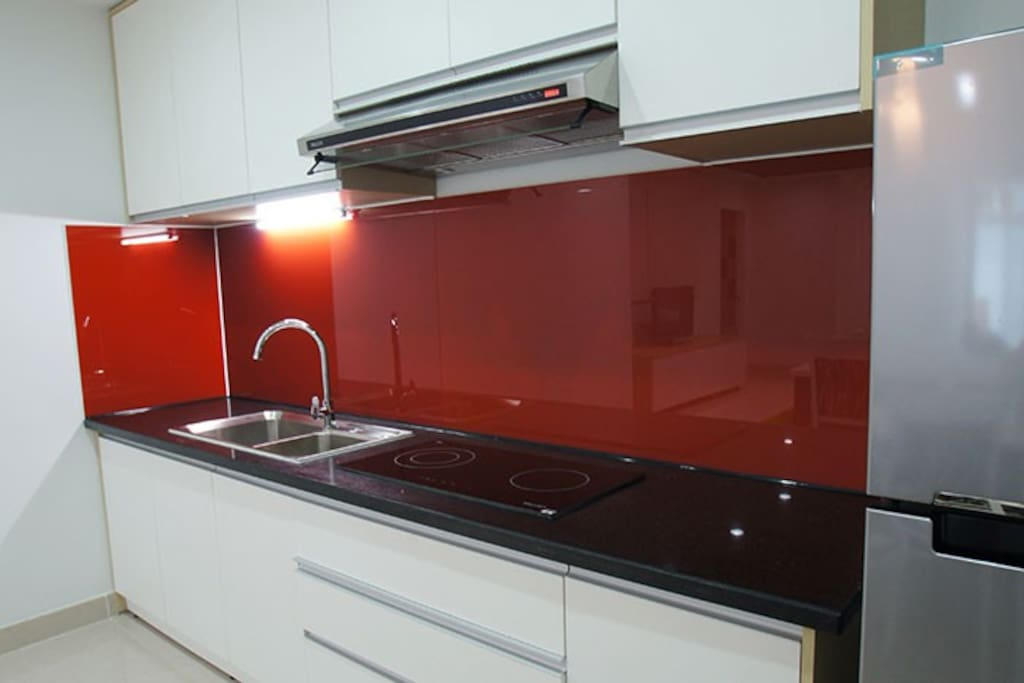 Stylish and fully equipped kitchen