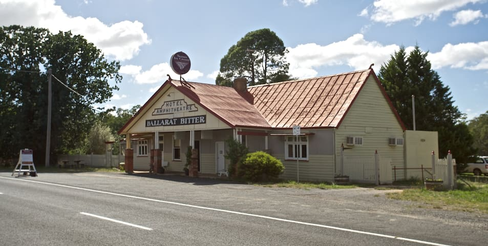 The pub from the road