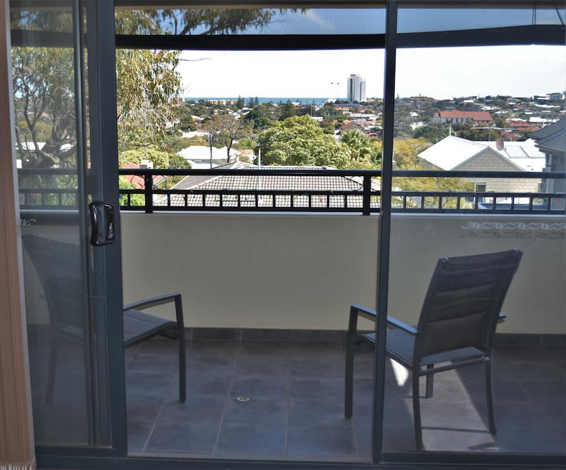 Balcony with views to Scarborough Beach