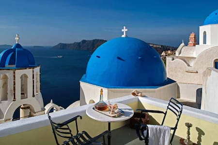 Turquoise Tranquility Villa - Oia - Hus