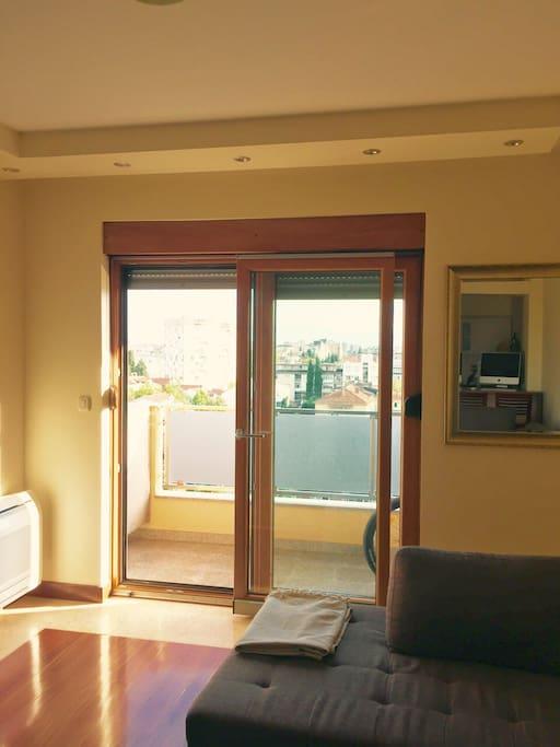 Living room. Door dor the Balcony