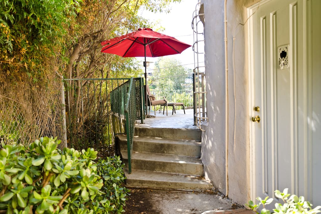 Your guest house private entrance.