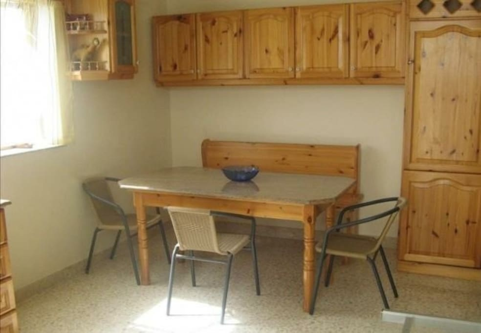 Dinning combined with kitchen