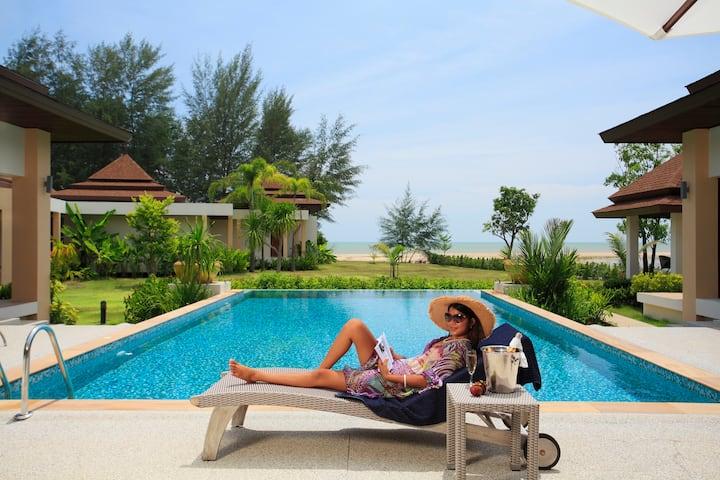 Beach Front Luxury Pool Villa 3 Bedrooms  (A3)