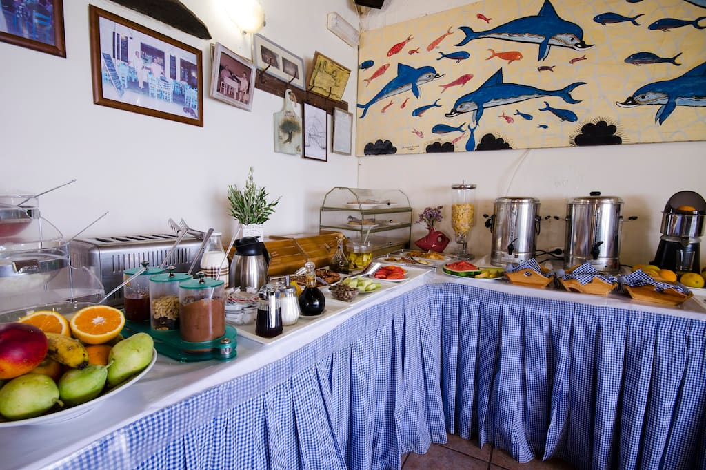 """Free Buffet breakfast in our beach front restaurant """"The Cellar"""""""