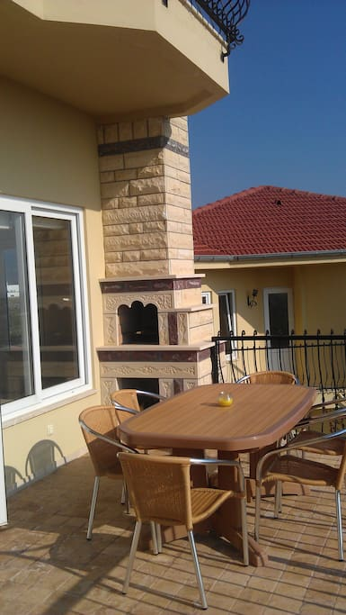 Terrace with built in BBQ