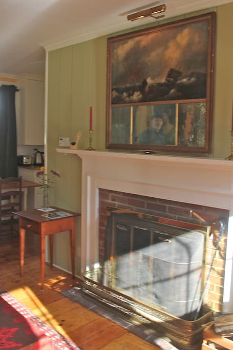 This is the fireplace, which is in the livingroom.