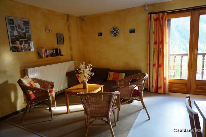 Gentiane aux Soldanelles à St-Véran, soleil et vue - Saint-Véran - Apartment