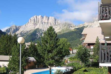 Appart pour 6, ski,rando,piscine chauffée,tennis - Gresse-en-Vercors - Leilighet