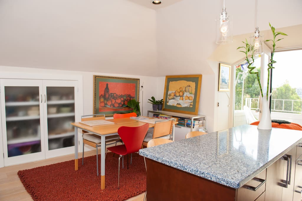 the kitchen / dining part